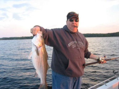 Striped Bass caught by Steve Landers.